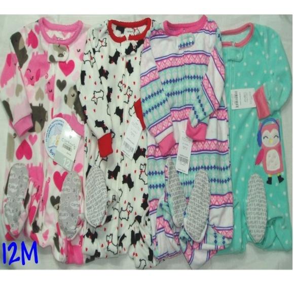042a56bb9 Carter's Pajamas | 4 Pair Fleece Blanket Sleeper Pig Owl Dog | Poshmark